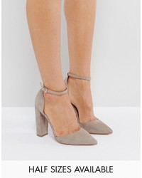 graue Pumps von Asos