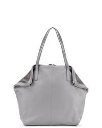 graue Satchel-Tasche aus Leder von Fabiana Filippi