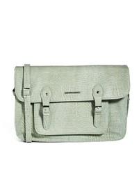 graue Satchel-Tasche aus Leder von French Connection