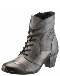 graue Schnürstiefeletten aus Leder von Remonte