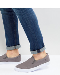 graue Segeltuch niedrige Sneakers von ASOS DESIGN