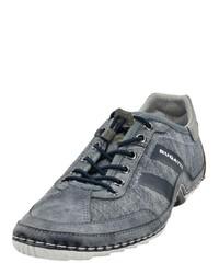 graue Segeltuch niedrige Sneakers von Bugatti