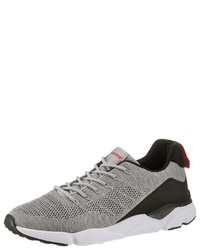 graue Segeltuch niedrige Sneakers von PETROLIO