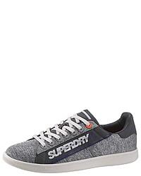 graue Segeltuch niedrige Sneakers von Superdry