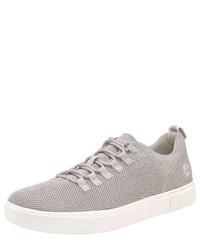 graue Segeltuch niedrige Sneakers von Timberland