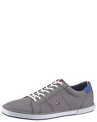 graue Segeltuch niedrige Sneakers von Tommy Hilfiger