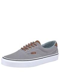 graue Segeltuch niedrige Sneakers von Vans