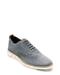 graue Segeltuch Oxford Schuhe