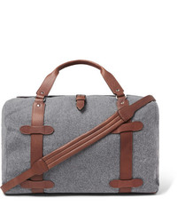 Graue Segeltuch Reisetasche