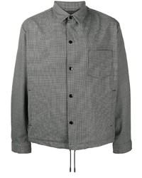 graue Shirtjacke mit Hahnentritt-Muster von BOSS HUGO BOSS