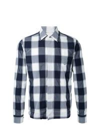 graue Shirtjacke mit Karomuster von Kent & Curwen