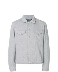 graue Shirtjacke