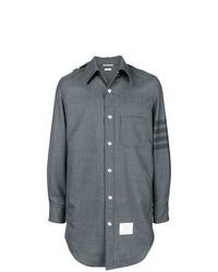 graue Shirtjacke von Thom Browne