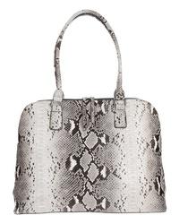 graue Shopper Tasche aus Leder mit Schlangenmuster von EMILY & NOAH
