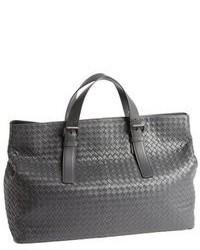 graue Shopper Tasche aus Leder
