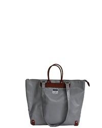 graue Shopper Tasche aus Leder von 7clouds