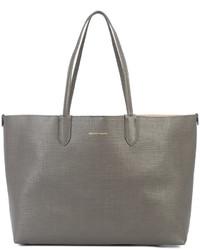 graue Shopper Tasche aus Leder von Alexander McQueen