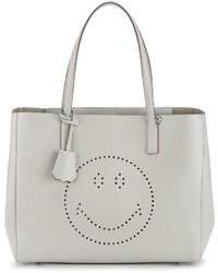 graue Shopper Tasche aus Leder von Anya Hindmarch