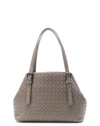 graue Shopper Tasche aus Leder von Bottega Veneta