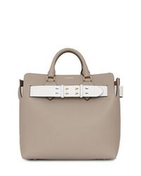 graue Shopper Tasche aus Leder von Burberry