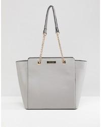 graue Shopper Tasche aus Leder von Carvela