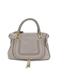graue Shopper Tasche aus Leder von Chloé
