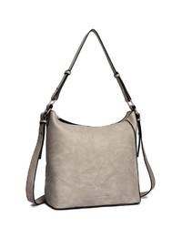 graue Shopper Tasche aus Leder von COLLEZIONE ALESSANDRO