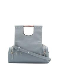 graue Shopper Tasche aus Leder von Corto Moltedo