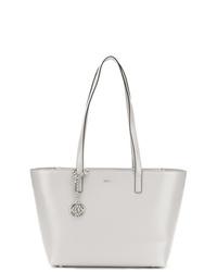 graue Shopper Tasche aus Leder von DKNY