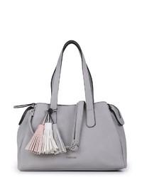 graue Shopper Tasche aus Leder von EMILY & NOAH