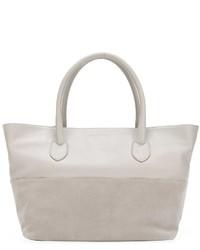 graue Shopper Tasche aus Leder von Fabiana Filippi