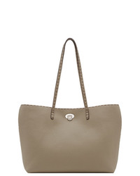 graue Shopper Tasche aus Leder von Fendi