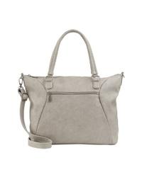 graue Shopper Tasche aus Leder von Fritzi aus Preußen
