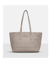 graue Shopper Tasche aus Leder von Liebeskind Berlin