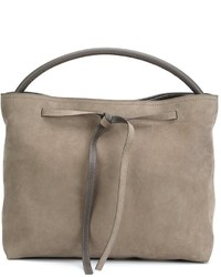 graue Shopper Tasche aus Leder von Maison Margiela