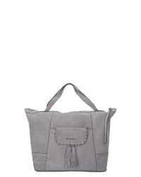 graue Shopper Tasche aus Leder von Marc O'Polo