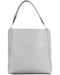graue Shopper Tasche aus Leder von Max Mara