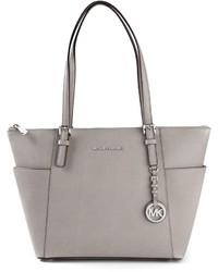 graue Shopper Tasche aus Leder von MICHAEL Michael Kors