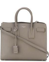 graue Shopper Tasche aus Leder von Saint Laurent
