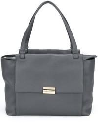 graue Shopper Tasche aus Leder von Salvatore Ferragamo