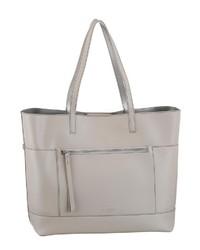 graue Shopper Tasche aus Leder von Seidenfelt