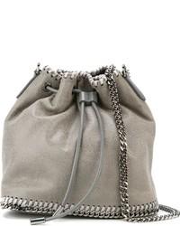 graue Shopper Tasche aus Leder von Stella McCartney