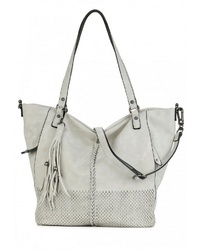 graue Shopper Tasche aus Leder von SURI FREY