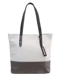 Graue Shopper Tasche aus Leder von Tom Tailor