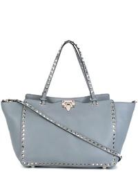 graue Shopper Tasche aus Leder von Valentino Garavani