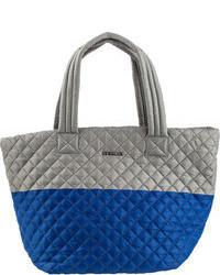 graue Shopper Tasche aus Nylon