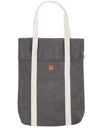 graue Shopper Tasche aus Segeltuch