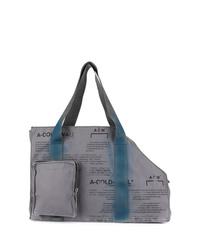 graue Shopper Tasche aus Segeltuch von A-Cold-Wall*