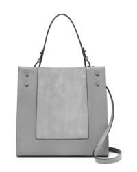 graue Shopper Tasche aus Wildleder