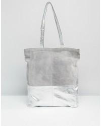 graue Shopper Tasche aus Wildleder von Asos